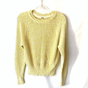 Free People   Yellow Sweater Size Extra Small